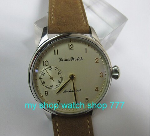2016 new fashion 44mm PARNIS pilot Asian 6498 Mechanical Hand Wind movement men s watch wholesale
