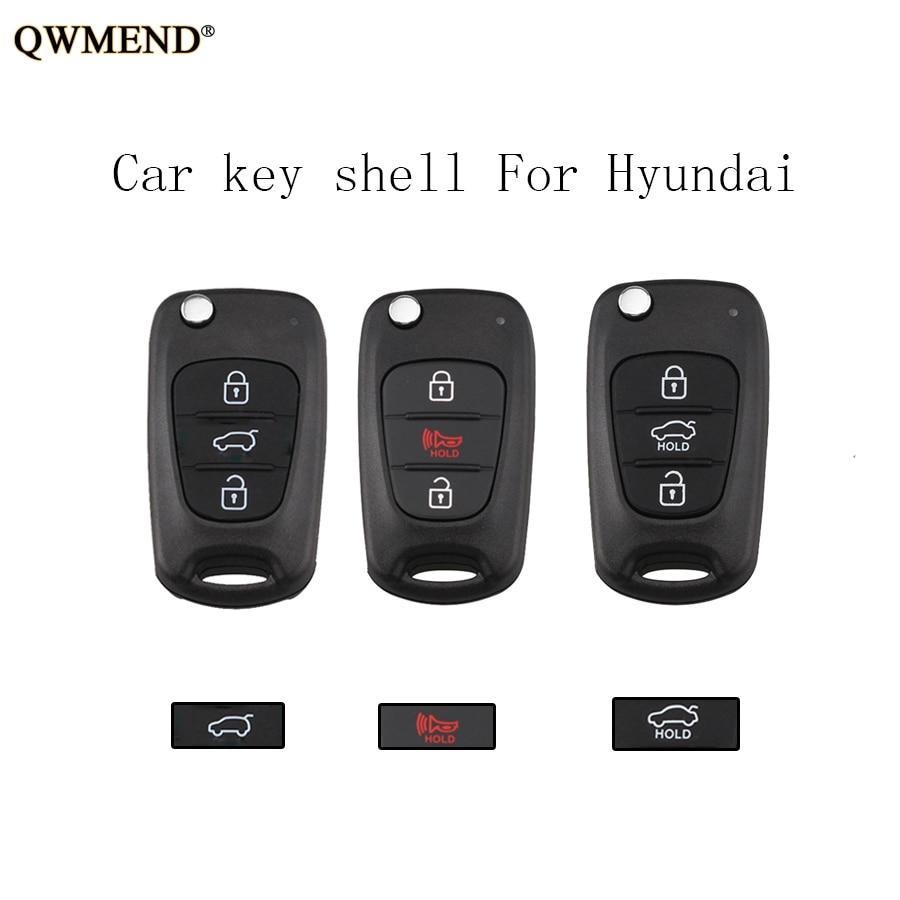 QWMEND Remote-Key-Shell 2009 TOY40 HYUNDAI Blade 3buttons No-Logo 2008 For VERNA I30