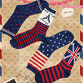 2015 New Fashion Christmas Strange socks Star-Spangled Banner Cotton stripe socks the Union Flag winter warming Ivy tower socks