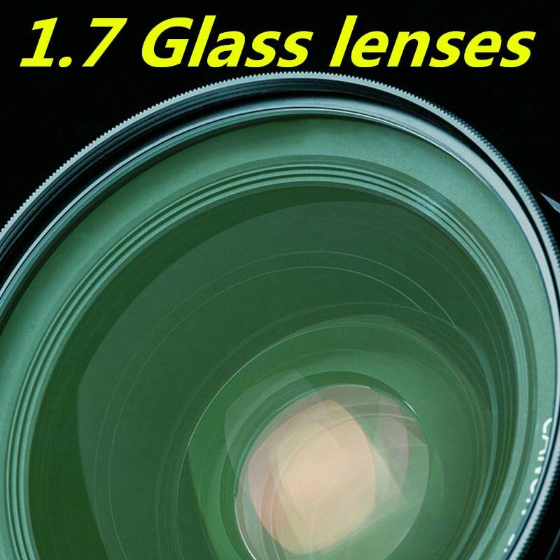 유리 렌즈 1.7 고굴절 그린 필름 비구면 렌즈 고화질 초박형 근시 처방 렌즈