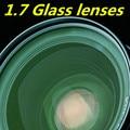 Glass lens 1.7 high refraction green film aspherical lens high-definition ultra-thin high myopia prescription lens