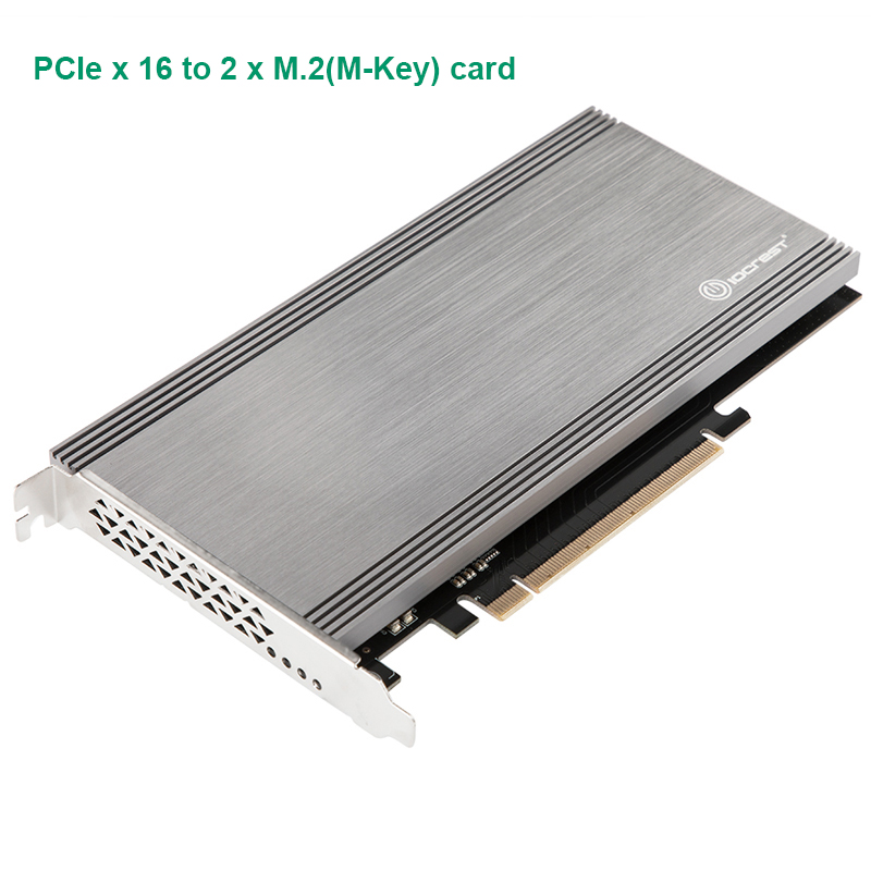Dual M.2 NVMe Ports To PCIe 3.0 X16 Bifurcation Riser Controller Support Non-bifurcation Motherboard Asmedia2824 Chipset NGFF