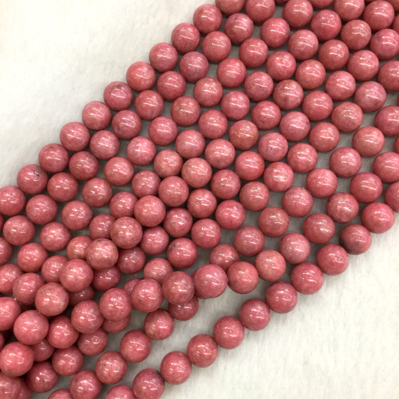 Natural Genuine South Africa Red Pink Rhodonite Rose Stone Round Jewellery Loose Ball Beads 6mm 8mm 10mm 12mm 15 05564Natural Genuine South Africa Red Pink Rhodonite Rose Stone Round Jewellery Loose Ball Beads 6mm 8mm 10mm 12mm 15 05564