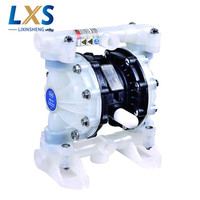 57L/Min 1/2 PP Material PTFE Plastic Air operated Pump BML 15P Double Way Liquid Diaphragm Pump Flow Rate