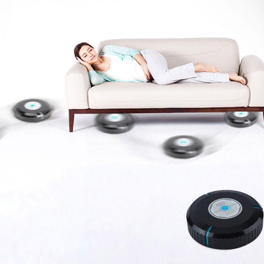 O Transporte da gota Para Casa Limpador Automático Robô de Limpeza de Microfibra Mop Aspirador de Pó Robótico Inteligente-preto Em Estoque Drop Shipping Hot nova