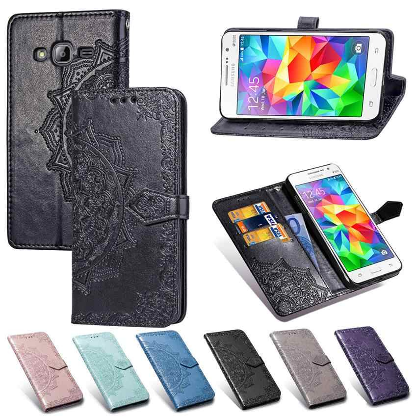 For Samsung Galaxy J1 2016 J120 Case G530 Grand prime Cover Leather Phone Case Full Cover Screen Protector For J120 G530 Film
