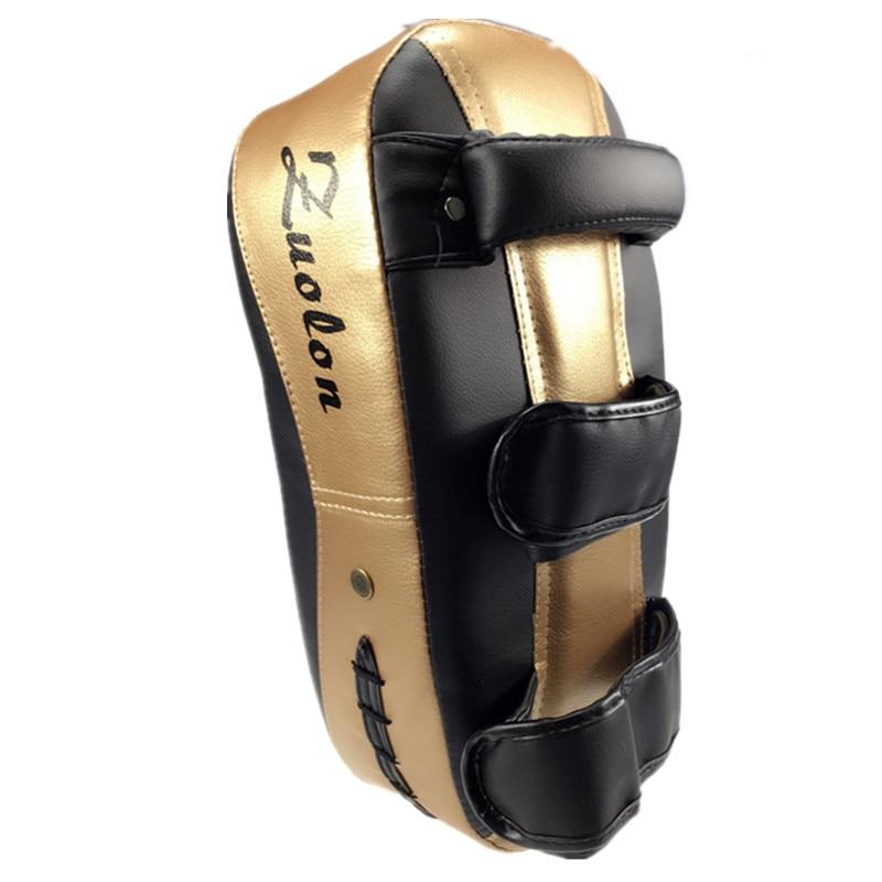 PU Leather Muay Thai Kick Boxing Taekwondo Sanda Martial Arts Training Pads Punch MMA Foot Target Pad