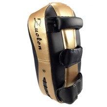 ПУ кожа Муай Тай кик бокс таэквондо Санда Боевые искусства тренировочные подкладки удар ММА для ног щиток-мишень