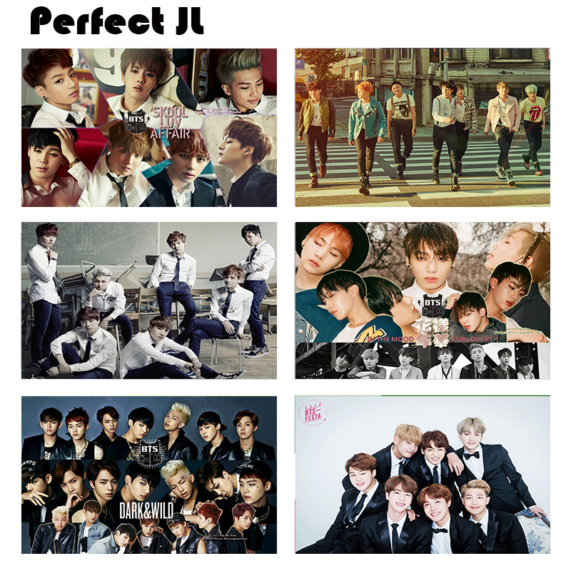 BTS Series collection 2 Home Furnishing decorative white coated paper Poster Wall Sticker Home Decora