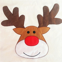 Christmas Non-woven Elk Embroidery Chair Set White Top Quality Christmas Table Decor Fashion Christmas Decoration for Home MFD69