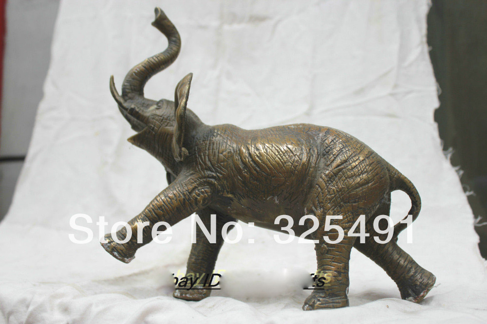 20 Lucky Chinese Bronze With Design Elephant Zun Statue statuary  free shipping20 Lucky Chinese Bronze With Design Elephant Zun Statue statuary  free shipping