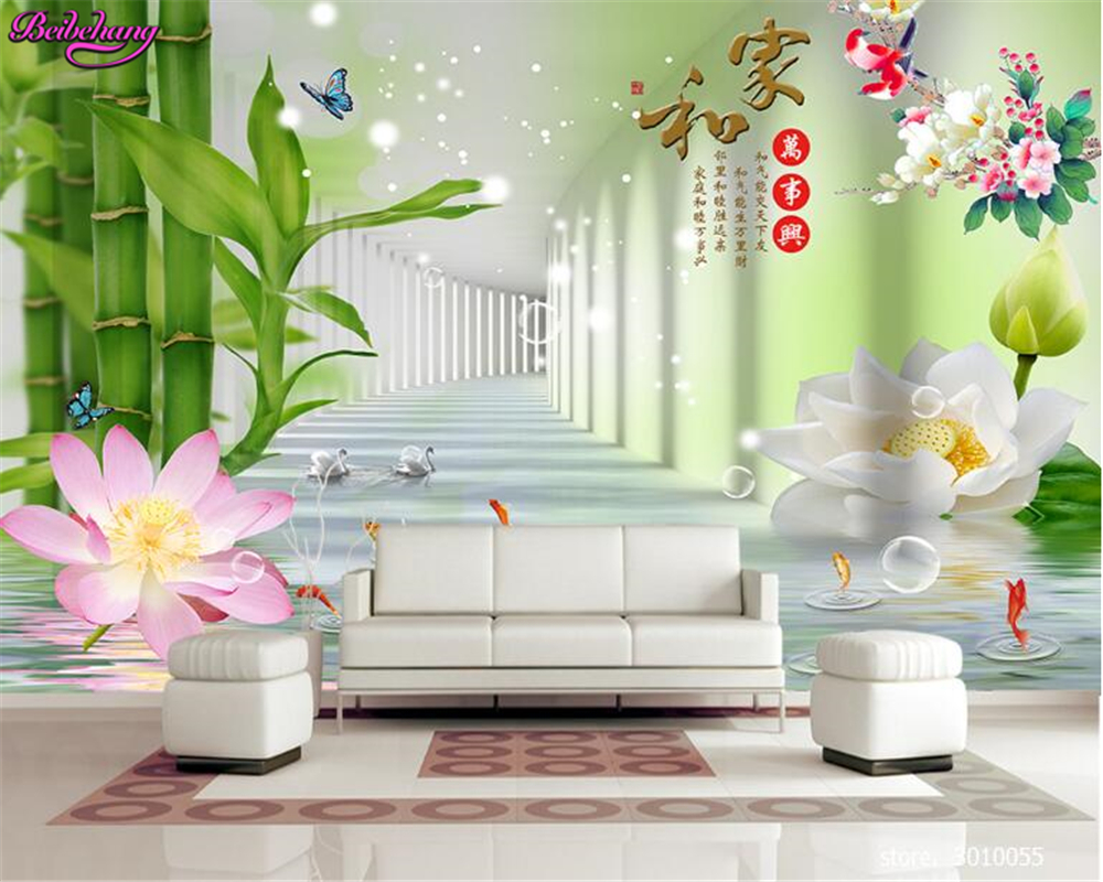 beibehang 3d wallpaper Fashionable fresh wallpaper and all the ...