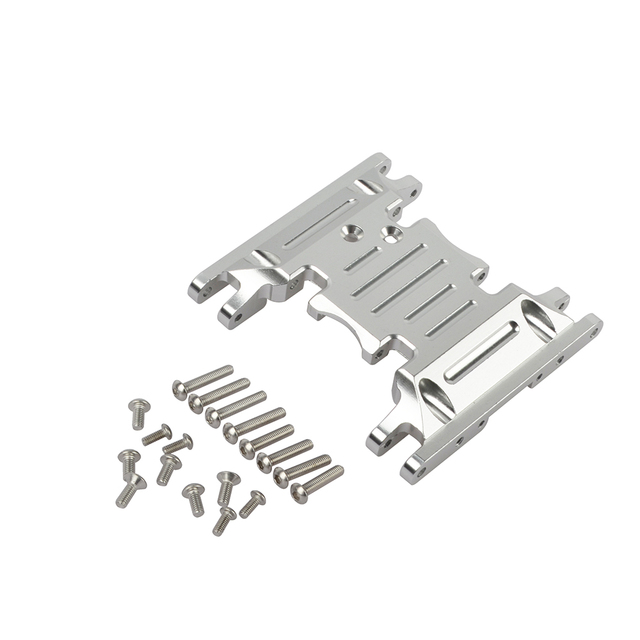 Aluminium Legierung Skid Platten getriebe box untere befestigung für Axial SCX10 II 90037 90046 90047 90058 AX31379