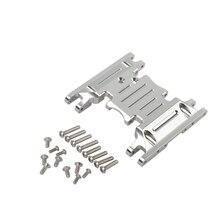 In Lega di alluminio Skid Piatti scatola ingranaggi inferiore mount per Axial SCX10 II 90037 90046 90047 90058 AX31379