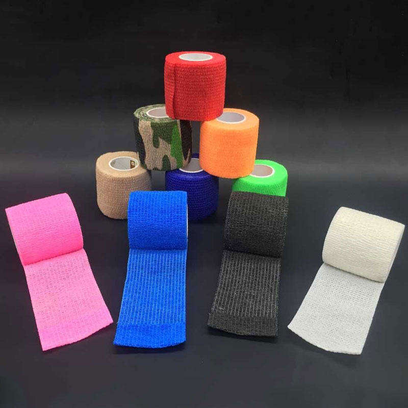 Tattoo Accesories 6pcs Bandage Tattoo Self Adhesive Elastic 5cm Wide Elbow Tattoo Tape Finger Protection Wrap Bandagem Tattoo