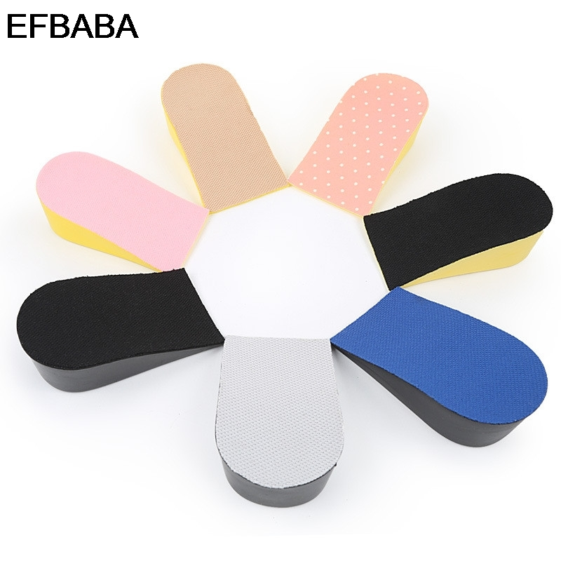 EFBABA Breathable Shock Absorbing Insoles Men Women Increased Pad 15-35mm Height Increase Insole Heel Inserts Shoes Accessoires ...