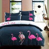 Flamingo Duvet Cover Set Queen King Size Bedding Sets 100 Egyptian Cotton Duvet Cover Solid Color