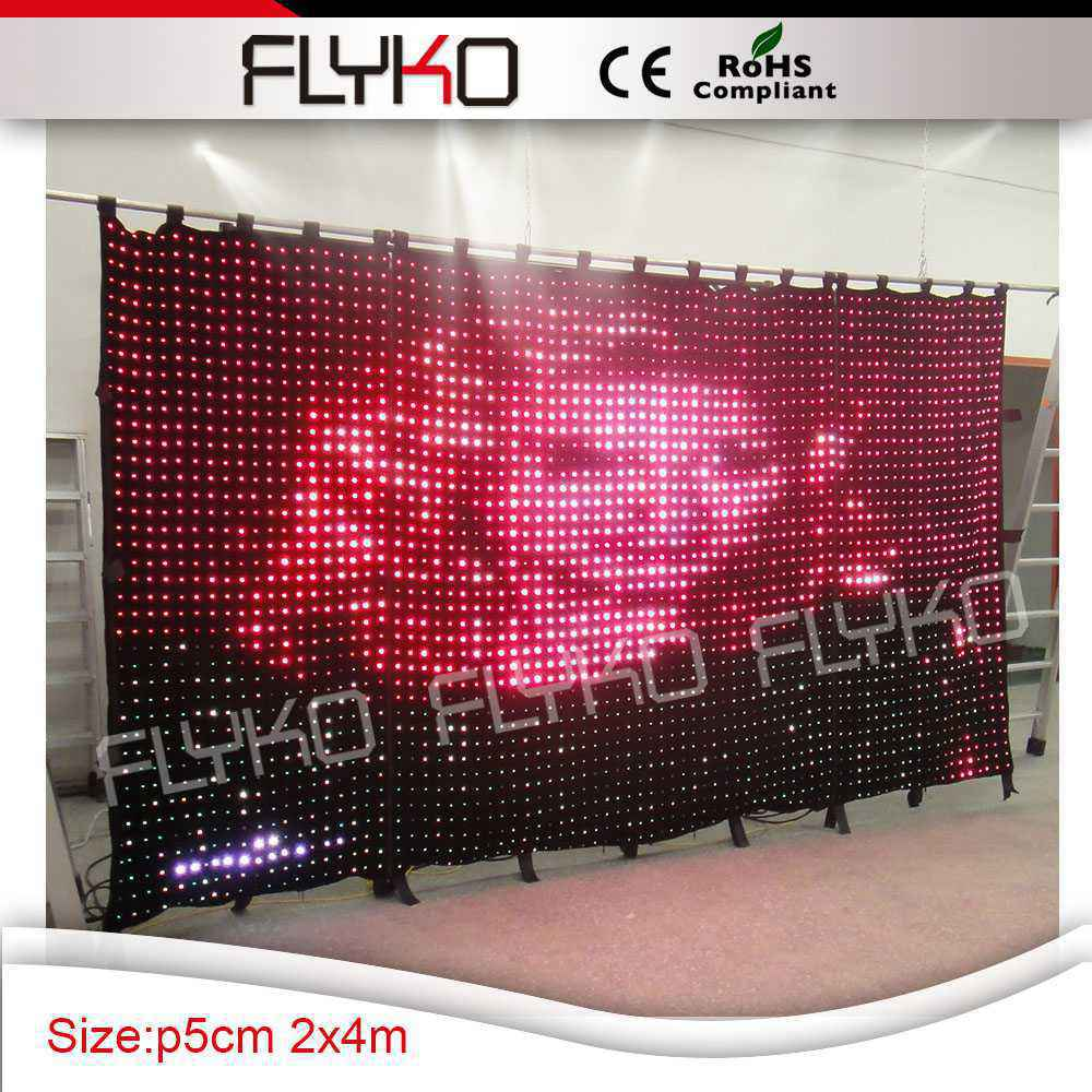 Led curtain concert - Aliexpress Com Buy Concert Stage Decoration P5cm Led Curtain 2m High By 4m Width Indoor Flexible Led Soft Dj Club Backdrop From Reliable Concert Stage