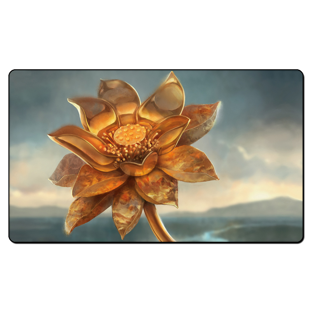 (Golden lotus) Board Games Playmats, Magical Card The Games Gathering Play Mat, Custom Design With Free Gift Bag