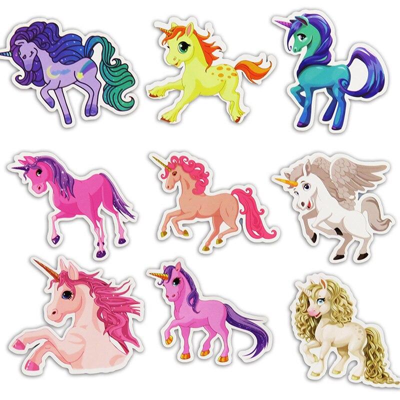 30 Pcs Girl toy sticker Cute Unicorn Stickers for Laptop Car Styling Phone Luggage Bike Cartoon Waterproof Children gifts ZJD
