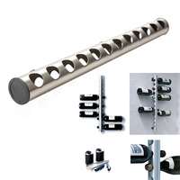 New Arrival Wine Holders Stainless Steel Wine Rack Bar Wall Mounted Kitchen Holder 12 And 8