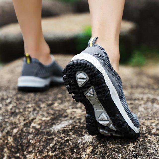 حجم كبير الانزلاق على أحذية رياضية الرجال احذية الجري الرجال أحذية رياضية الذكور حذاء رياضي تنس رمادي Spor Ayakkabi Erkek المدربين رياضة B-282 3