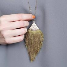 ZWPON 2019 Fashion Summer Long Rhombus Soft Tassel Necklace Women Bohemian Silver Chain Long Necklace Pendant Jewelry Wholesale цена