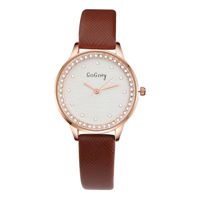 Gogoey Brand Fashion Wrist Watch Women Watches Luxury Diamond Women's Watches Leather Ladies Watch Clock saat bayan kol saati