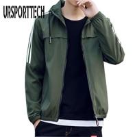 Plus Size M 4XL New Spring Autumn Men Bomber Jackets Casual Solid Fashion Men Bomber Jacket