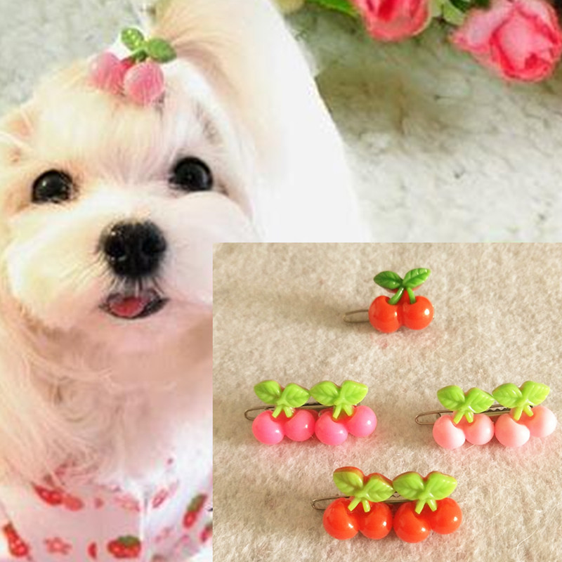 10PC Pet Dog Hair Clips Lace Ribbon Bows Cat Puppy Hair Accessories Grooming Big