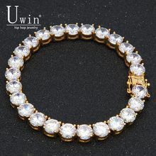 UWIN 8mm CZ Tennis Chain Iced Out Zircon Bracelet Hiphop Link Fashion Punk Choker Chain Bling Bling Charms Jewelry(China)
