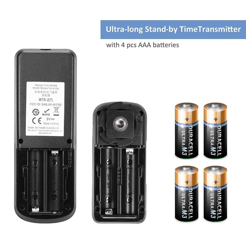 AODELAN WTR2 sans fil minuterie télécommande caméra déclencheur pour Canon EOS R, 80D, 77D, 70D, 60D, 800D, 200D, 7D Series, 5D - 5