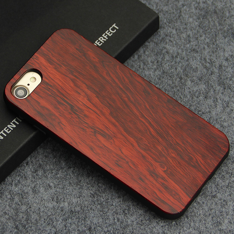 Wood Phone Cases For iPhone 7 Case 8 Natural Bamboo Wooden
