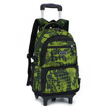 Trolley Backpacks For Boys 2/6 Wheels New Children School Bags Schoolbag Kids Luggage Bag On Wheels Backpack Men Bolsas Mochila(China)
