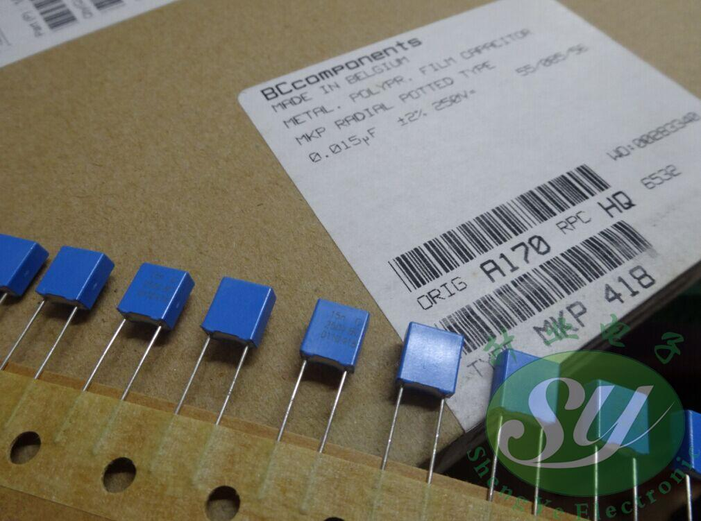 2018 горячая распродажа 50 шт. VISHAY до н. э. пленочные конденсаторы MKP418 материал 0,015 мкФ/250 В 15nf 153 новая высокая точность 2% Бесплатная доставка