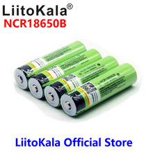 2018 liitokala 18650 3400mah New Original NCR18650B 3000 3400 Rechargeable Li-ion battery for panasonic for Flashlight