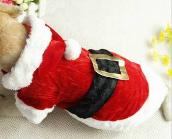20pcs Christmas party clothes gift puppy costume dog coat cat skirt Santa Claus clothes sweater pet Accessories