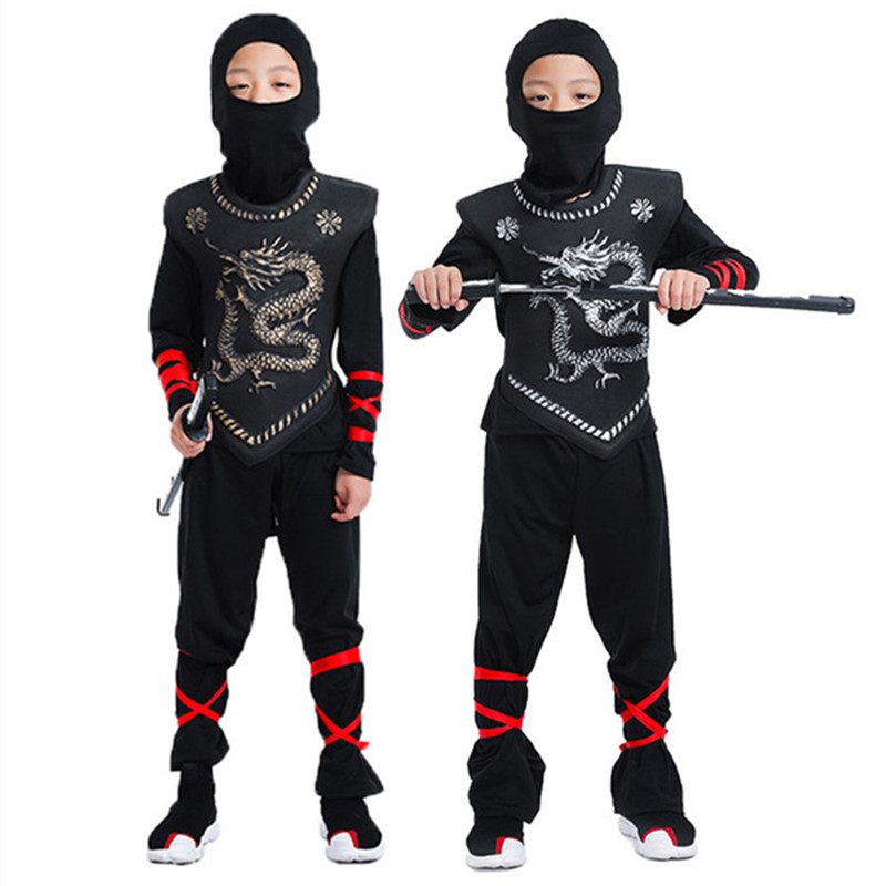 Hot Sale Kids Martial Arts Set Child Classic Halloween Costumes Clothing 4-12 Years Old Children Martial Arts Suit Ninja Sets