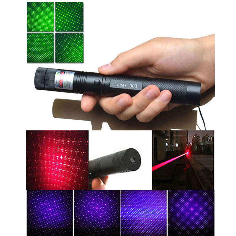 1pcs 2in1 G303 5mW Red/Green/Blue Straight Dot Line Laser Pen Pointer with Star Cap 303 Lazer Adjustable Focus Visible Beam Лазерная указка