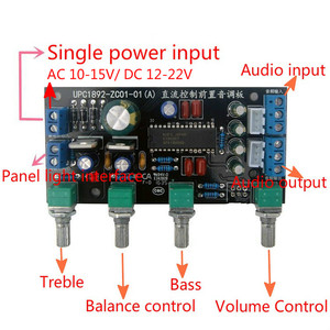 Image 5 - GHXAMP UPC1892 Preamplifier Tone Control Board Kits Speaker Amplifiers DIY Mini Preamp Treble Bass adjust 100x48mm