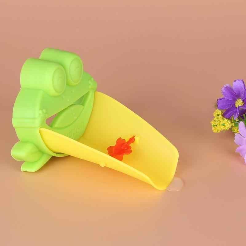 2 pcs Rã Bonito Forma de Gadgets Do Banheiro Torneira Extensores Extensão Alça de Lavar As Mãos Água Da Torneira Acessórios Do Banheiro para As Crianças