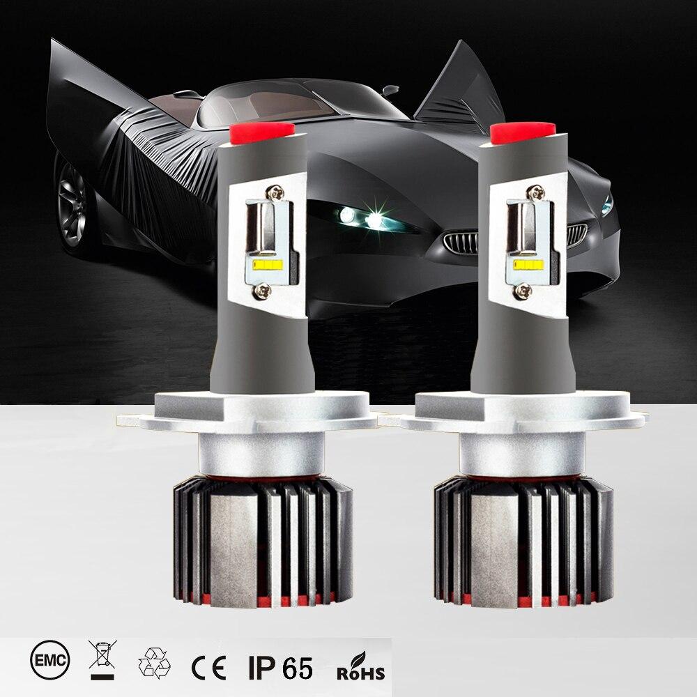 Made in USA Auto Led-leuchten H7 kopf lampe 6500 karat kalten weiß 8400LM CSP chip led H1 H3 H11 9005 9006 9012 H4 led lampe leds für auto