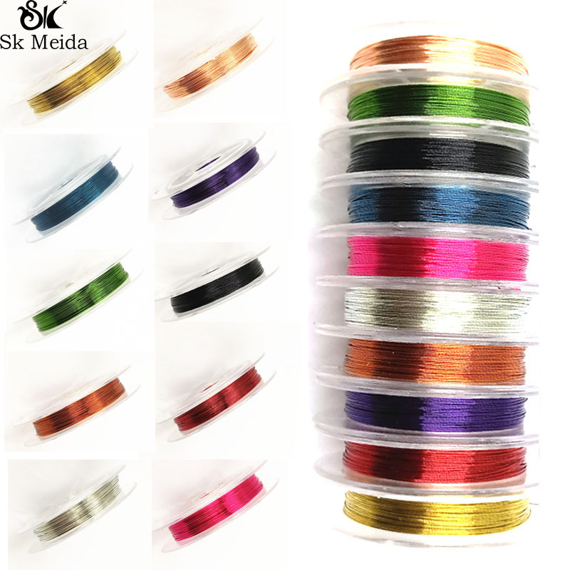 1 Roll 0.3mm 10m Soft Useful Sturdy Alloy Copper Wire DIY Craft Beading Wire Jewelry Making Cord String Accessories TK-125