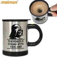 Star Wars Darth Vader Automatic Self Stirring Mug Office Travel Electric Coffee Mixer Mug Mixing Drinking
