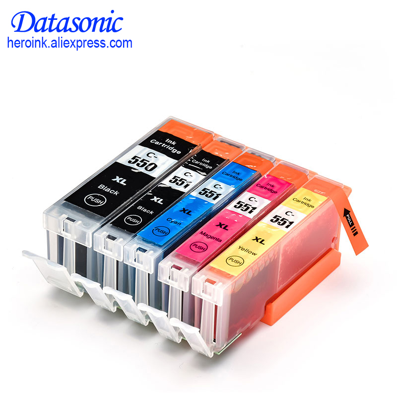 DAT 5PK pgi550 pgi 550 cli 551 ink cartridge for canon PGI550 CLI551 PIXMA IP7250 MG5450
