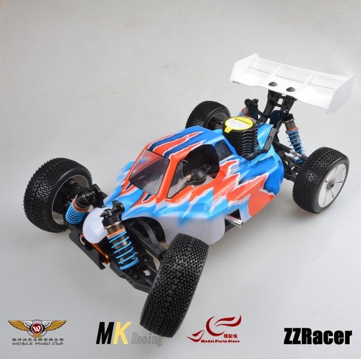 MK Nitro Powered GO21 Engine Remote Control Truck Racing Car Nylon Frame