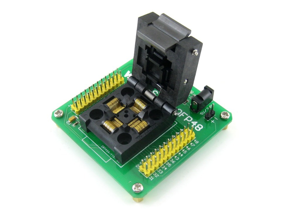 Parts QFP48 LQFP48 STM8 STM8S IC Test Socket Programming Programmer Adapter 0.5Pitch Free Shipping w5500 lqfp 48