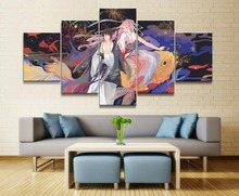 Naruto Sasuke Sakura Anime Canvas Wall Art Home Picture 5 Pieces Paintings Decor Living Room