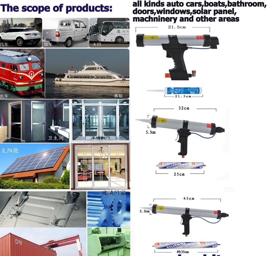 Gratis Verzending 12 inches voor 400 ml pu kitpistool air kitpistool - Bouwgereedschap - Foto 6