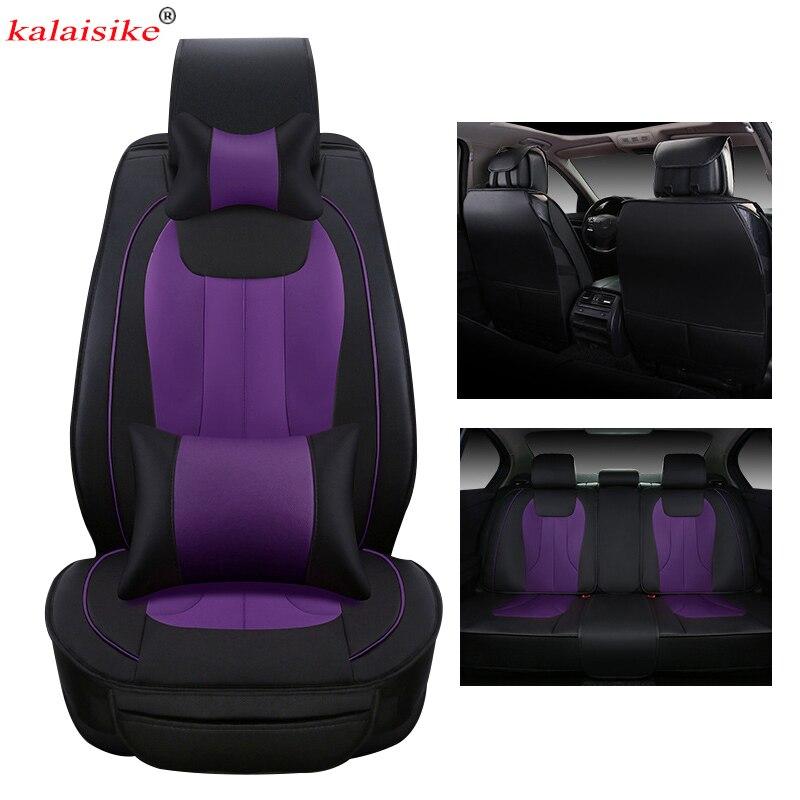 kalaisike leather Universal Car Seat Covers for Renault all models kadjar logan scenic fluence duster megane